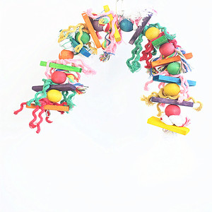 Colorful Bird Toy Parrot Swing Cage Toy/ Parakeet Cockatiel Budgie Lovebird Woodens Parrots Swings Toys
