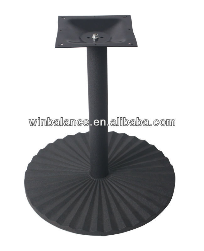 Ourdoor Furniture Black Assembled Table Leg