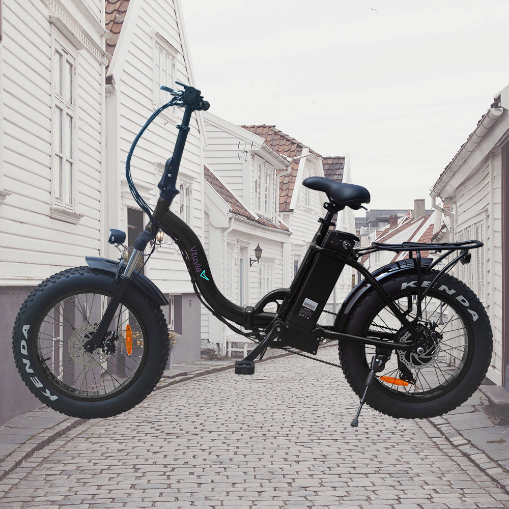 20 inch foldable frame 48V 12Ah Lithium battery Electric bicycle 500W Fat tire folding Electric bike with high-end Disc brake