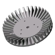 6063 T5 Aluminum extruded die casting sunflower Cold Forging heatsink for led enclosure