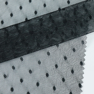 shaoxing keqiao supplier hole polyester white dot lace teal mesh fabric price kg