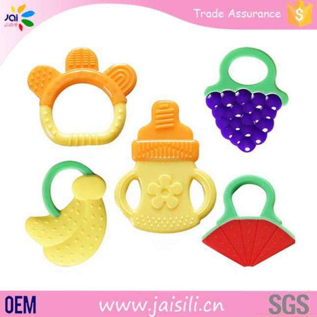 new products 2016 food grade colorful design baby toy jolly