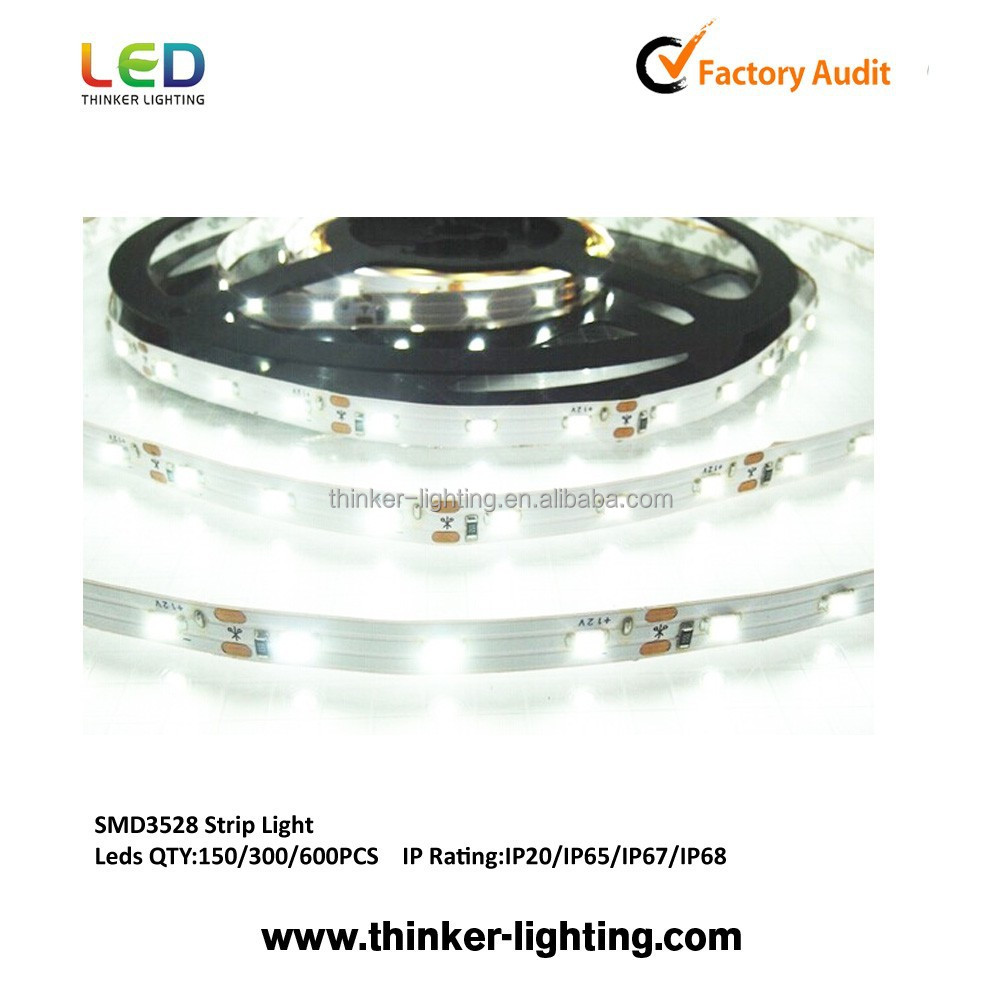 SMD3528 120 LEDs/m color blanco IP65 tira de luz LED con alta calidad