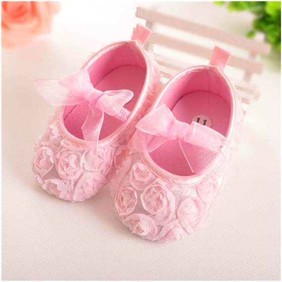 2016 new Baby Girl First Walkers Shoes Floral Soft Sole Crib Shoes For 0 18month