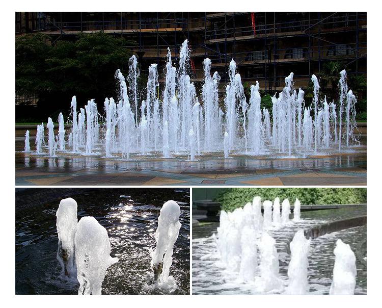 Bubble effect fountain shape small foam jet pool fountain nozzles