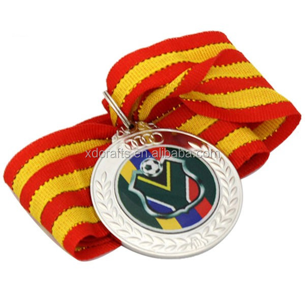 chinese supplier german bronze medal blank and trophies with ribbon