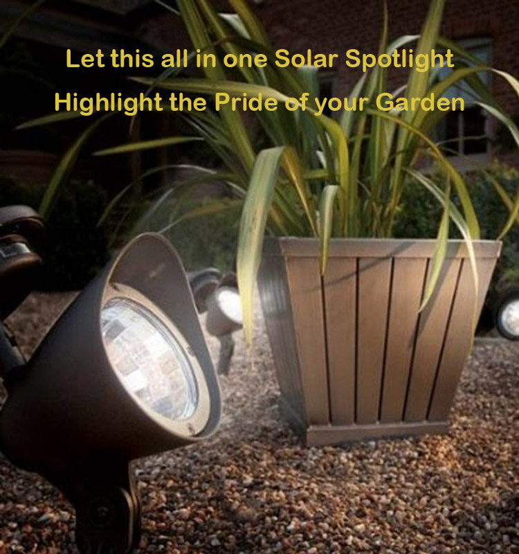 All In One Solar Spotlight with 18LED 100Lumens