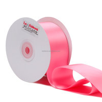Wholesale 2 inch double faced 100 polyester gift wrap satin ribbon