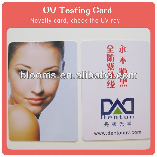 hot selling color change temperature and UV test psn card us