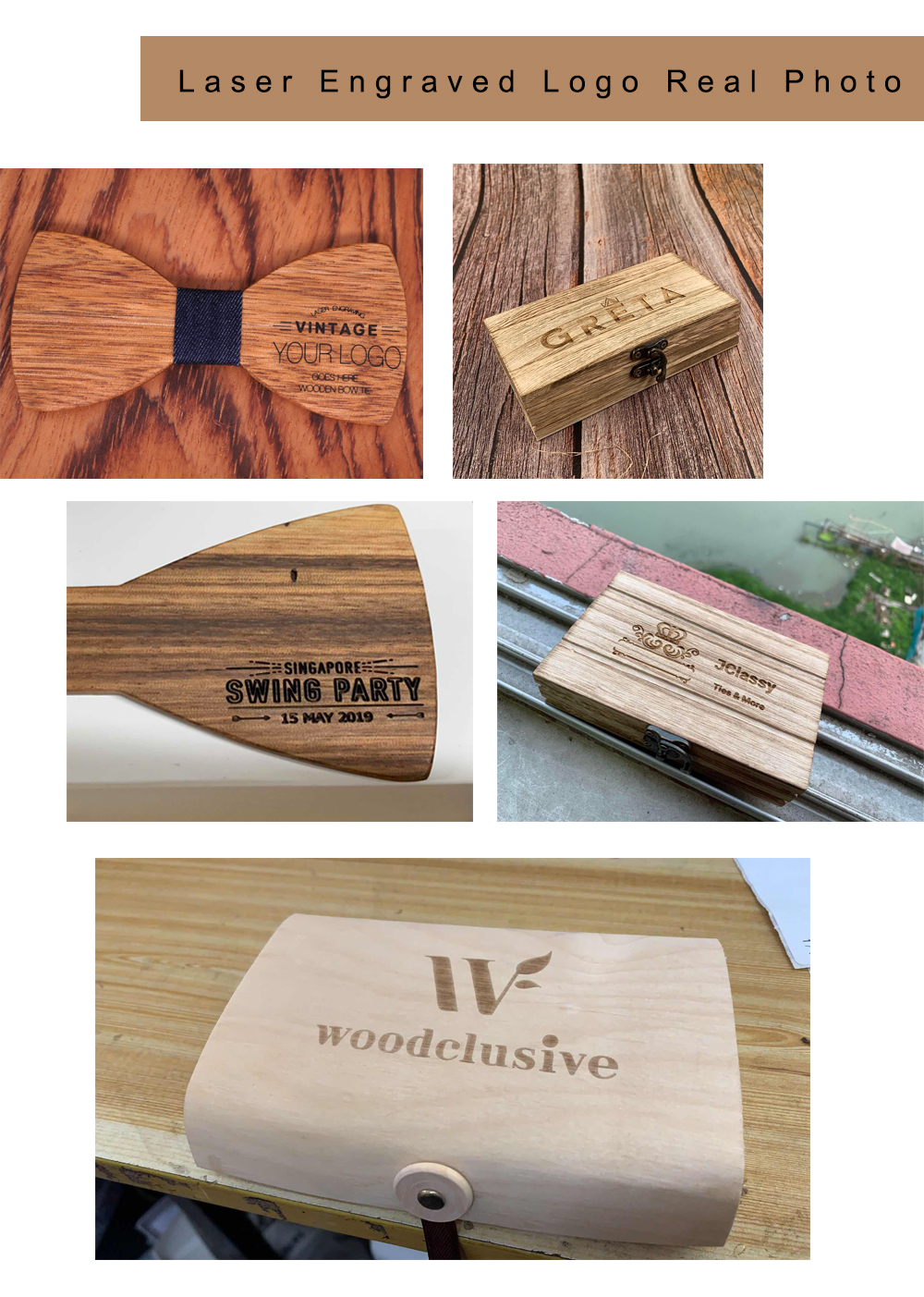 Wooden Bow Tie Set for Mens Wood Bowties Handkerchief Cufflinks helloween Set Gravatas Wedding Strip Shirt Ties