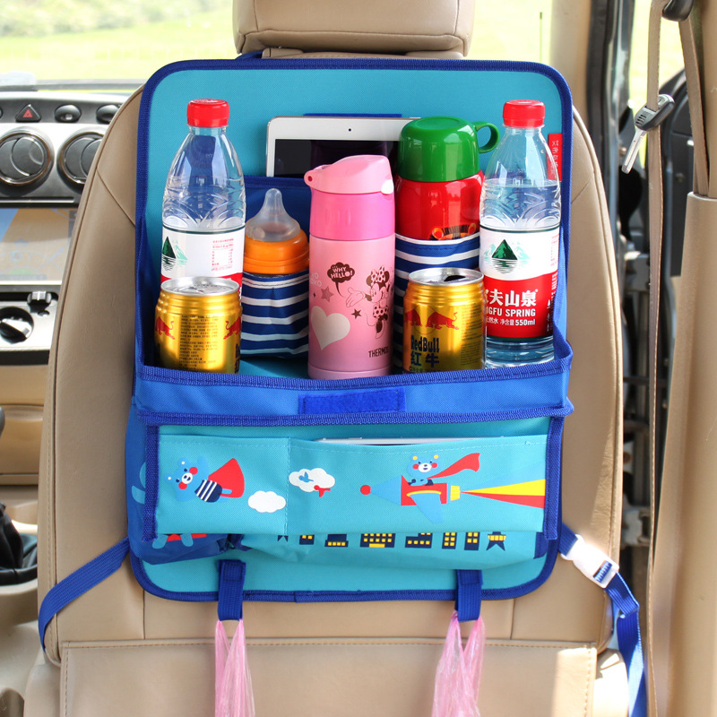 SN-Y-035 Baby back seat protector organizer tray for car