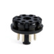 8Pin Bakelite Octal Pin Plug Base For Tube Test Power Supply Cable Pre Amplifier