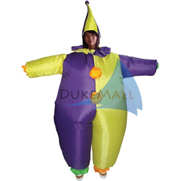 Inflatable Clown purple Costume Halloween Party Costume Animal Costume