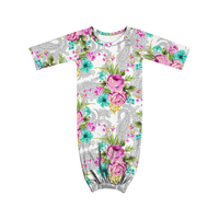 SD-013 Baby Gowns Newborn Baby Sleepers Pajamas Infant Toddler Long Sleeve Floral Sleepsack christening gowns baby