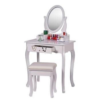 Merveilleux First Class Framed Mirror Women Cosmetic Dressing Table