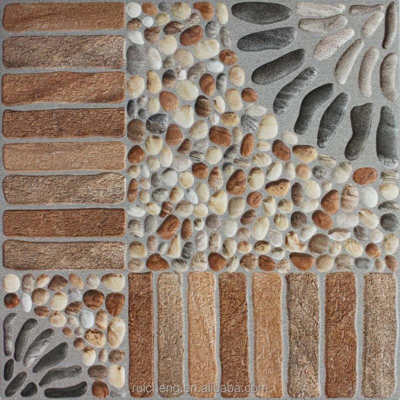 2015 new design non-slip 3d inkjet rustic floor tile 400x400mm for