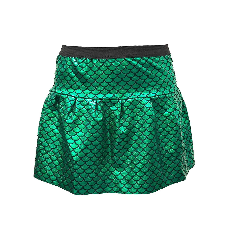 adbe19133f04e1 Get Quotations · ROCK Green Mermaid Skirt with Hologram Scales| Mermaid  Running Skirt | Mermaid Costume