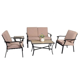 Leisure chair set used table metal garden furniture outdoor