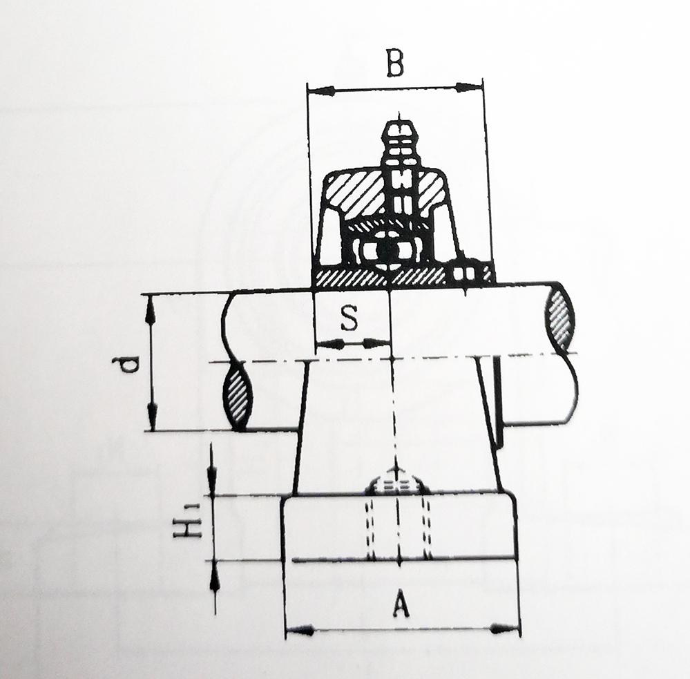 UCPA bearing drawing
