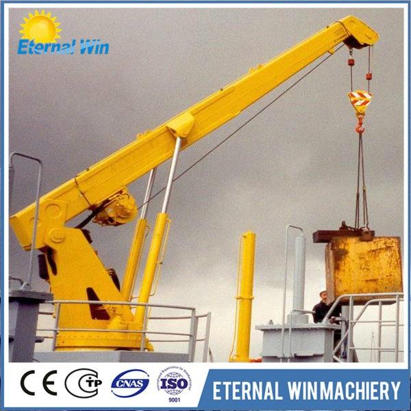 Telescopic Crane Marine : Kg telescopic small boat deck crane buy