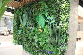 Popular Modular Green Plastic Green Wall Vertical Garden Green Wall  Customized Green Wall System