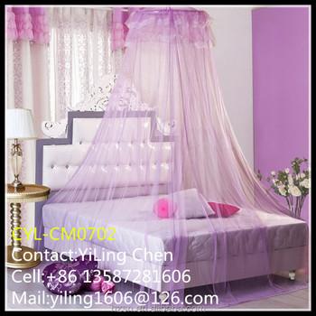 Purple Ruffles Bed Net Single Bed Bedding Canopy Girls Kids Princess Bedroom New & Purple Ruffles Bed Net Single Bed Bedding Canopy Girls Kids Princess ...