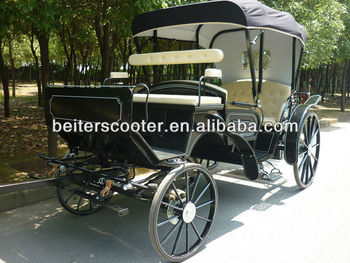 Wedding Victoria Vis-a-vis horse carriage with 6 people BTH-11