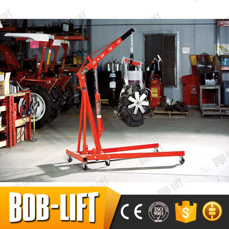 Professional Small Manual 1t Capacity Hydraulic Shop Crane