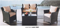 Resin woven outdoor furniture oval sofa