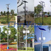 3-6M Pole solar yard light high pole led outdoor light with timer garden led pathway lamp