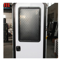 MAYGOOD MG09RD 620*1800mm rv caravan motorhome safe entry doors with tempered glass door window