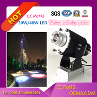 logo projector 30w LED rotating image outdoor waterproof