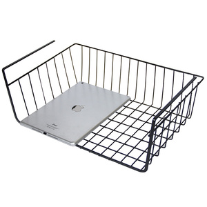 College dormitory hanging storage baskets slim storage basket kitchen storage shelves layered partition under the basket