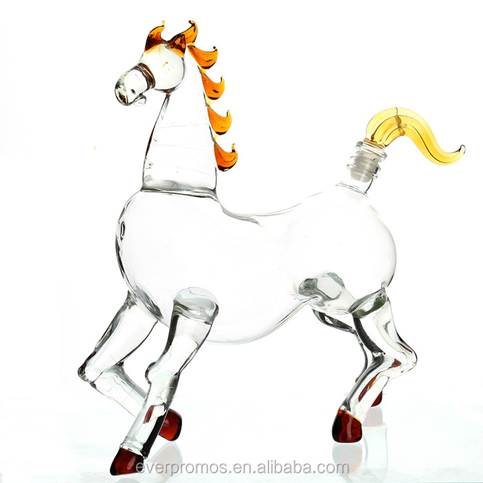 High Quality Best Selling Zodiac Glass Bottle Horse Animal Shaped Glass Bottle