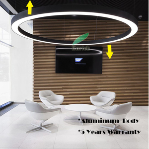 0-10V Dimmable Up & Down Emmiting LED round shape pendant light for Office,School,Gym Lighting