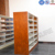 Double Sided Waterproof Metal Library Bookshelves for School