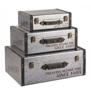 Beau Handmade Decorative Storage Suitcases Set Of 3