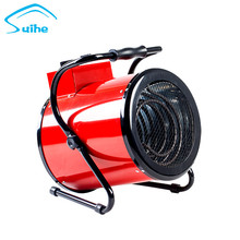 Construction hot air forced electrical industrial fan heater with overheat protection device