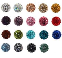 40color CZ rhinestone gemstones shamballa beads crystal beads for jewelry making stone bead