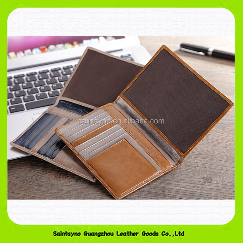 Famous brand business credit card holder case wallet genuine leather 15202