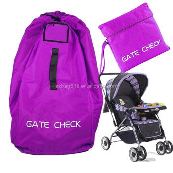 Infant Folding Gate Check Storage Bag Car Seat Travel Baby Stroller