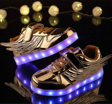 shoes with wing led shoes for kids lighting flashing in night