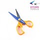 Factory direct offer colorful plastic handle stainless steel craft scissors