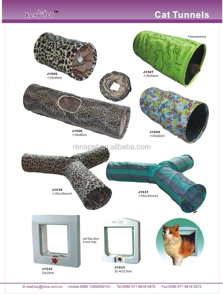 Competitive price small striated pet toy cat tunnel pet tunnel cat product