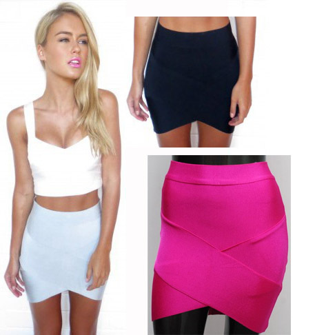Bandage Rayon Good Elastic Women Skirts Mini Sexy Slim Pencil Clubwear Suitable Casual Formal Candy Multi