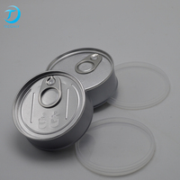 Ring pull air-tight reusable food grade weed cans with vinyl sticker