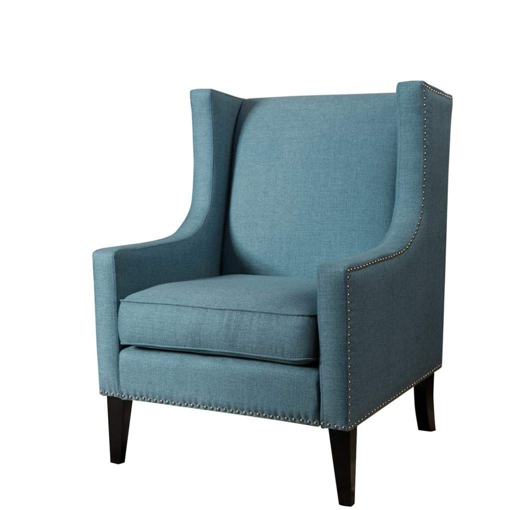 Basde Simple Solid Color Modern Leisure Sofa in te Living Room Stylish Furniture Chair (Blue)