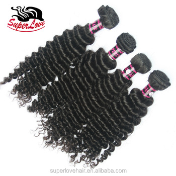 SuperLove Cuticle Aligned Raw deep Water wave short hair brazilian weave 12A Grade deep Curly afro city human hair deep wave