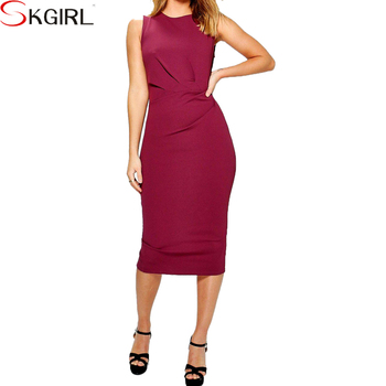 Plus Size Knee Length Bodycon Evening Formal Career Midi Pencil Dresses For  Mature Ladies 2018 - Buy Knee Length Bodycon Evening Dress,Mature Ladies ...