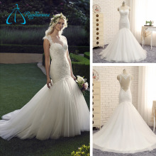Lace Appliques Beading Mermaid Wedding Dress Patterns